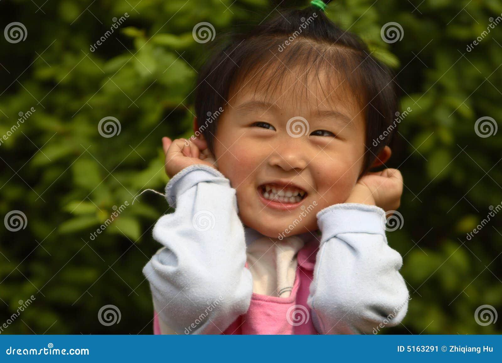 petite fille chinoise mignonne image stock