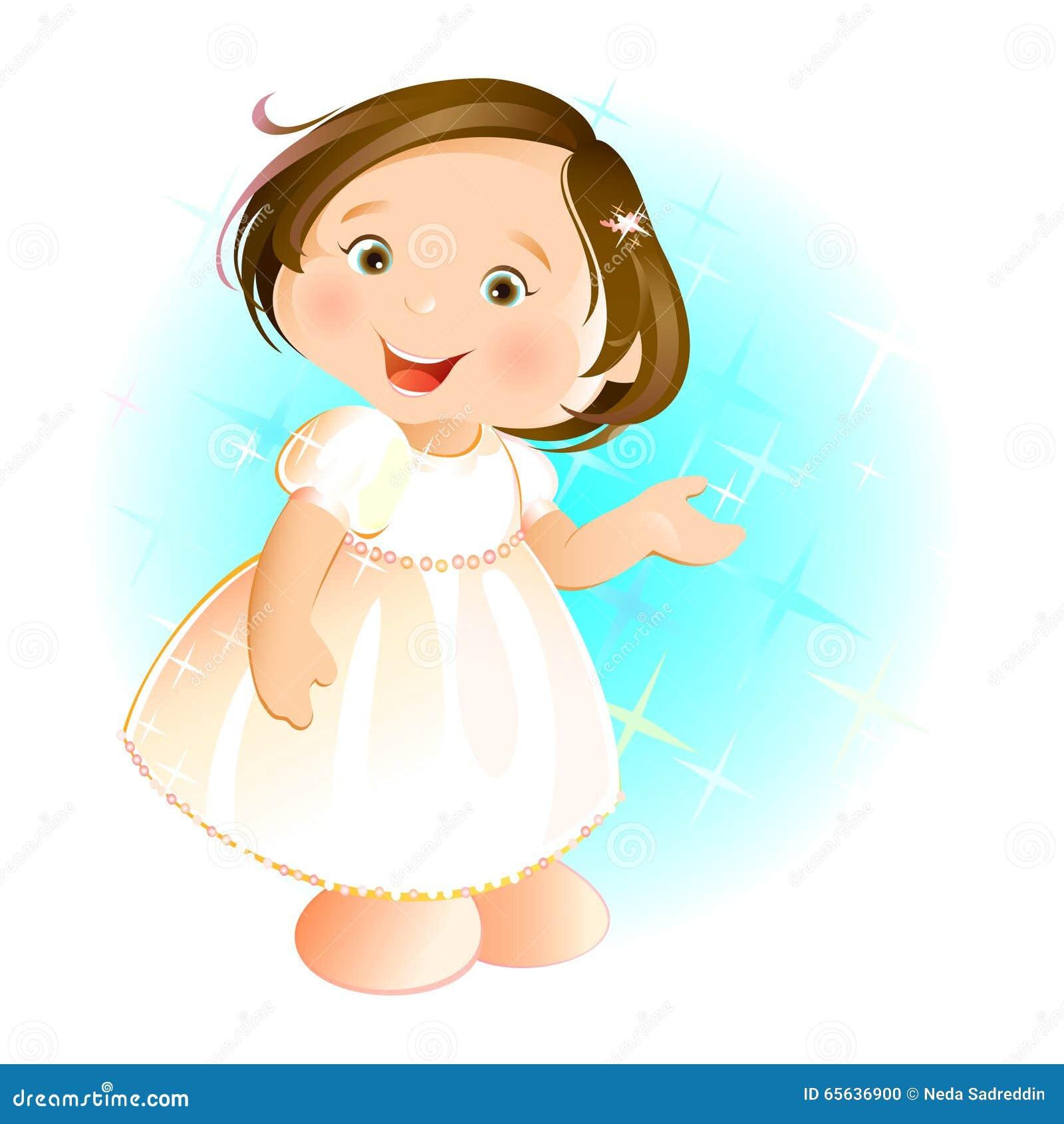 Petite fille heureuse