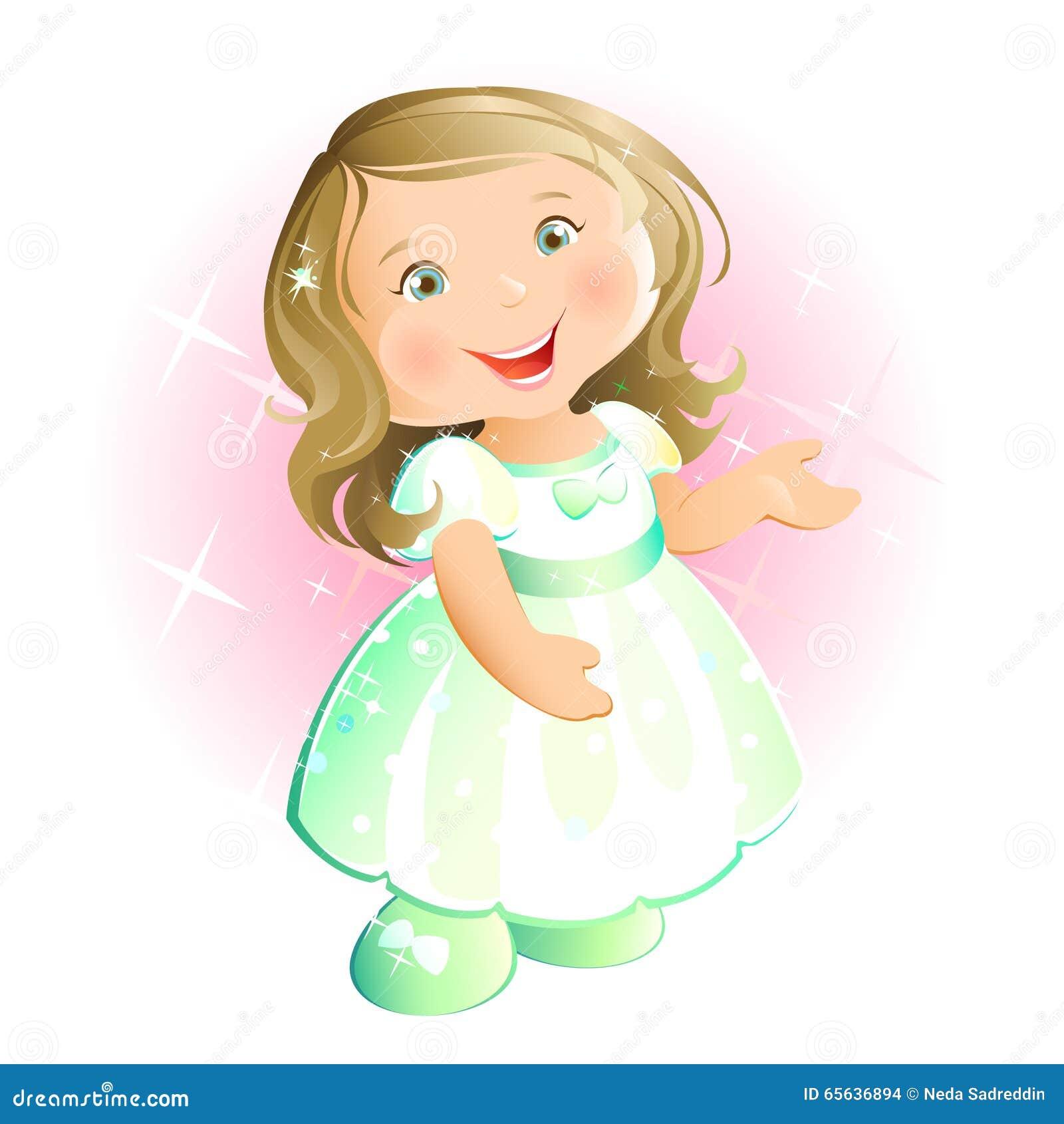 Petite fille heureuse (blonde)