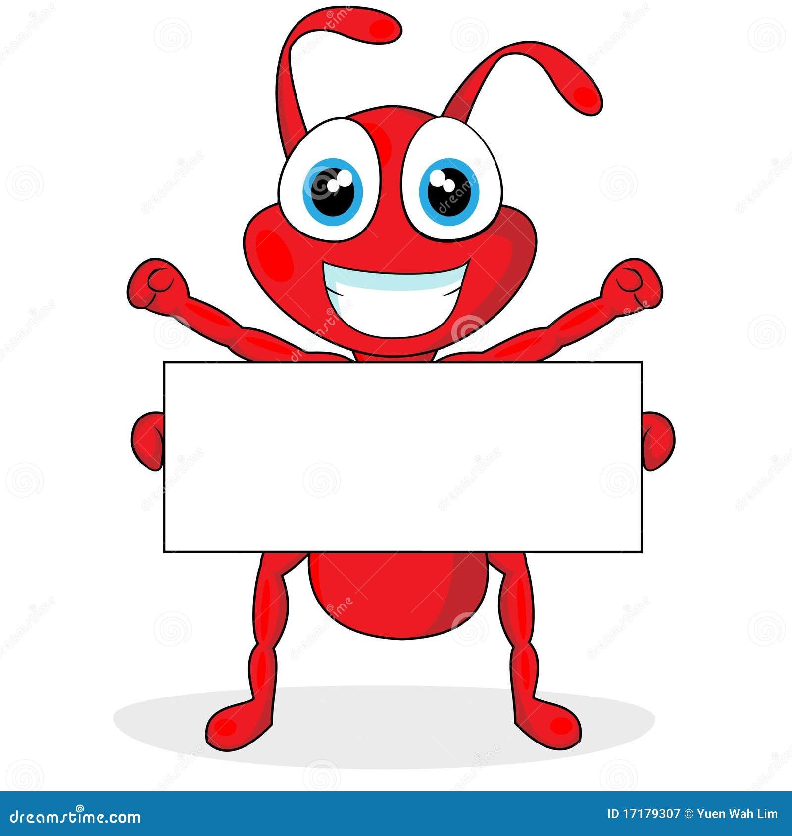 Petite fourmi rouge mignonne avec le signe blanc photographie stock libre de droits image - Fourmi rouge et tamanoir ...