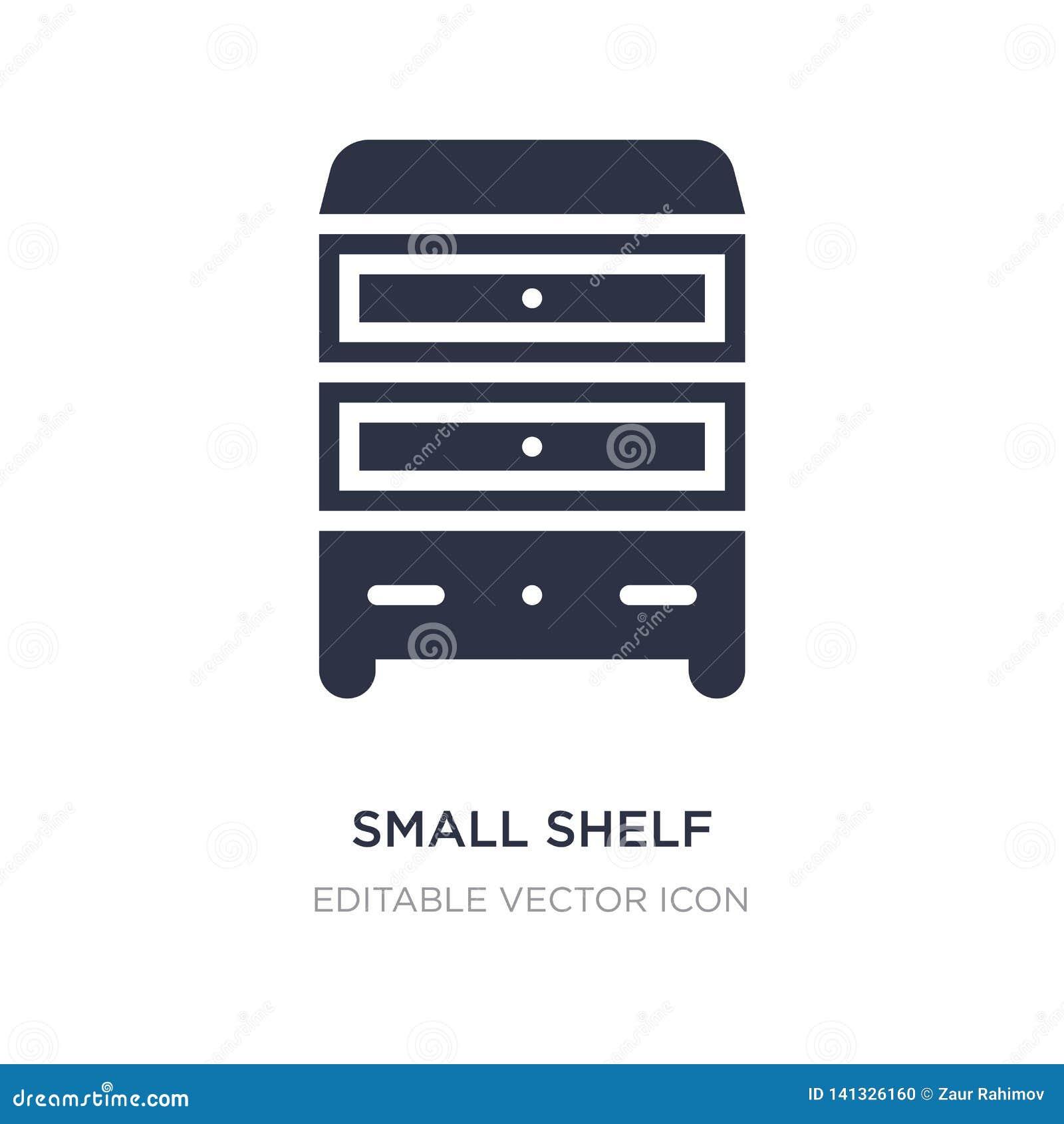 Petite icône d étagère sur le fond blanc Illustration simple d élément de l autre concept