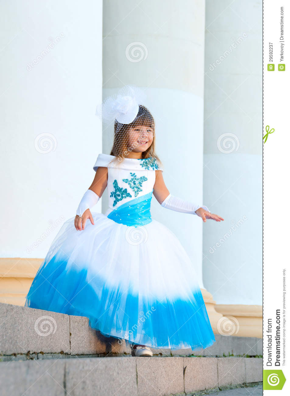 Robe petite fille mariage turquoise