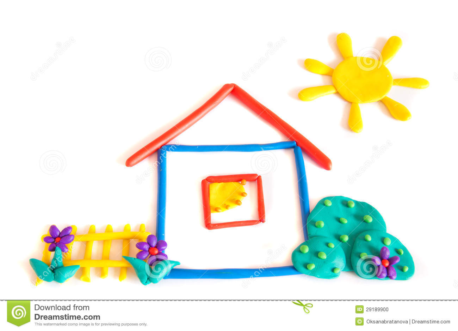 Petite maison de p te modeler photo stock image 29189900 - Pate a modeler maison ...