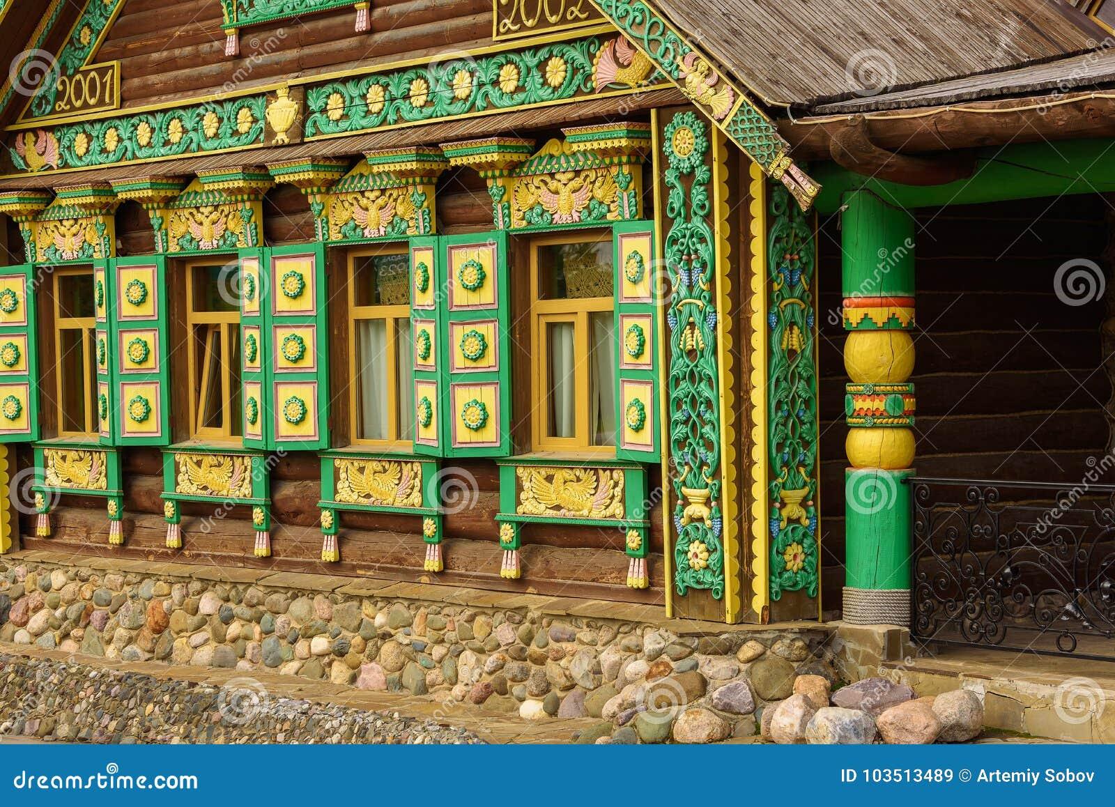Petite Maison En Bois Moderne Dans Le Style Russe Suzdal Russie