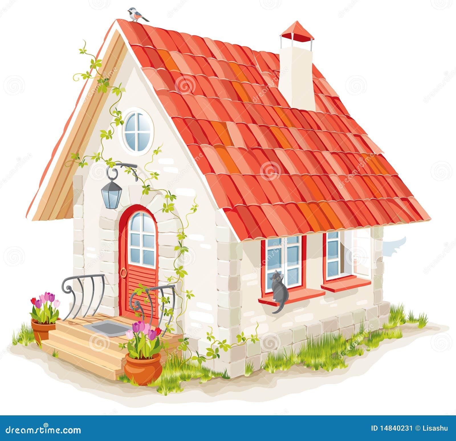 Petite maison f erique image stock image 14840231 for Concepteurs de maison