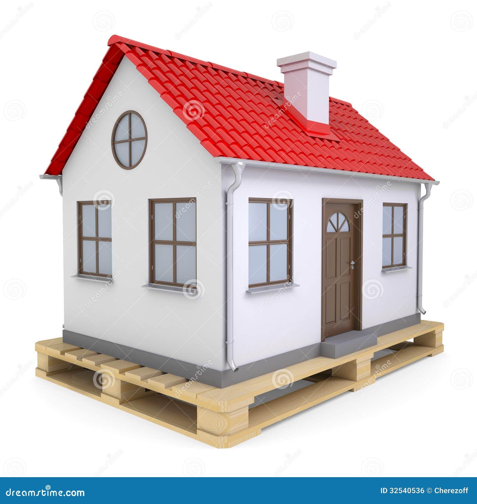 Petite Maison Sur La Palette Illustration Stock