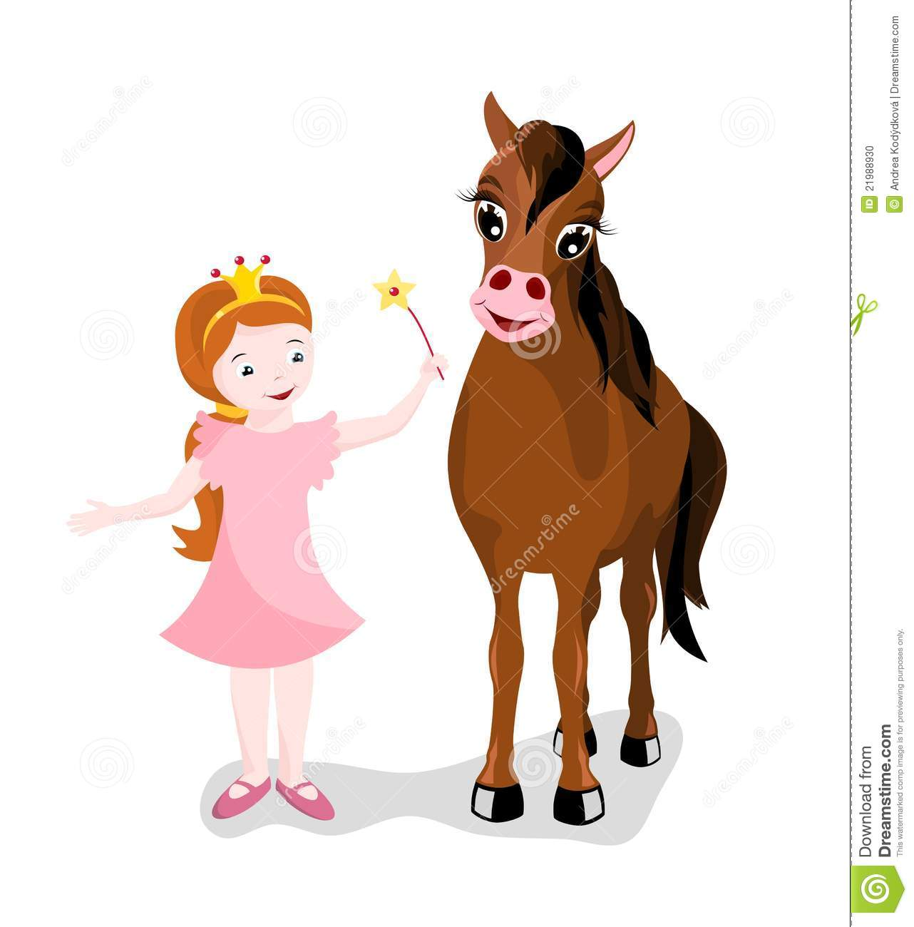 Petite princesse avec son cheval photo stock image 21988930 - Princesse cheval ...