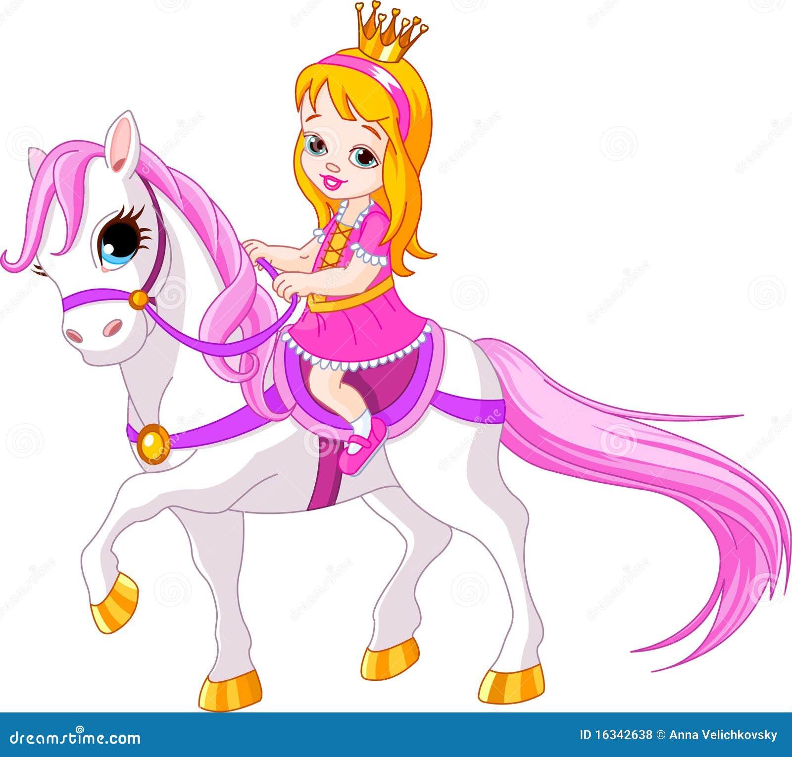 Petite princesse sur le cheval illustration de vecteur illustration du dressage poney 16342638 - Princesse cheval ...