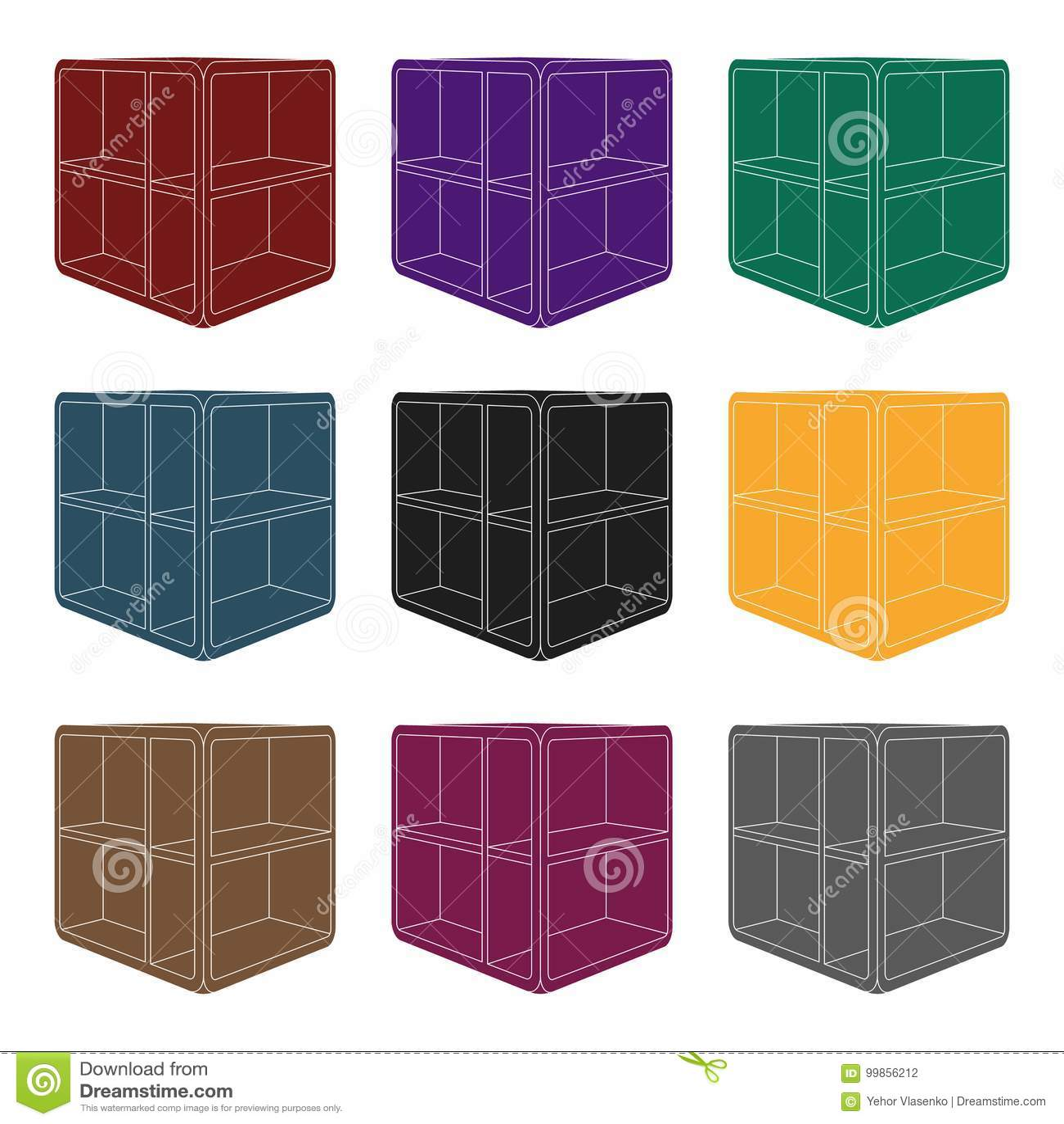 Petite Table Basse De Piece Table Blanche Avec Des Cellules Icone