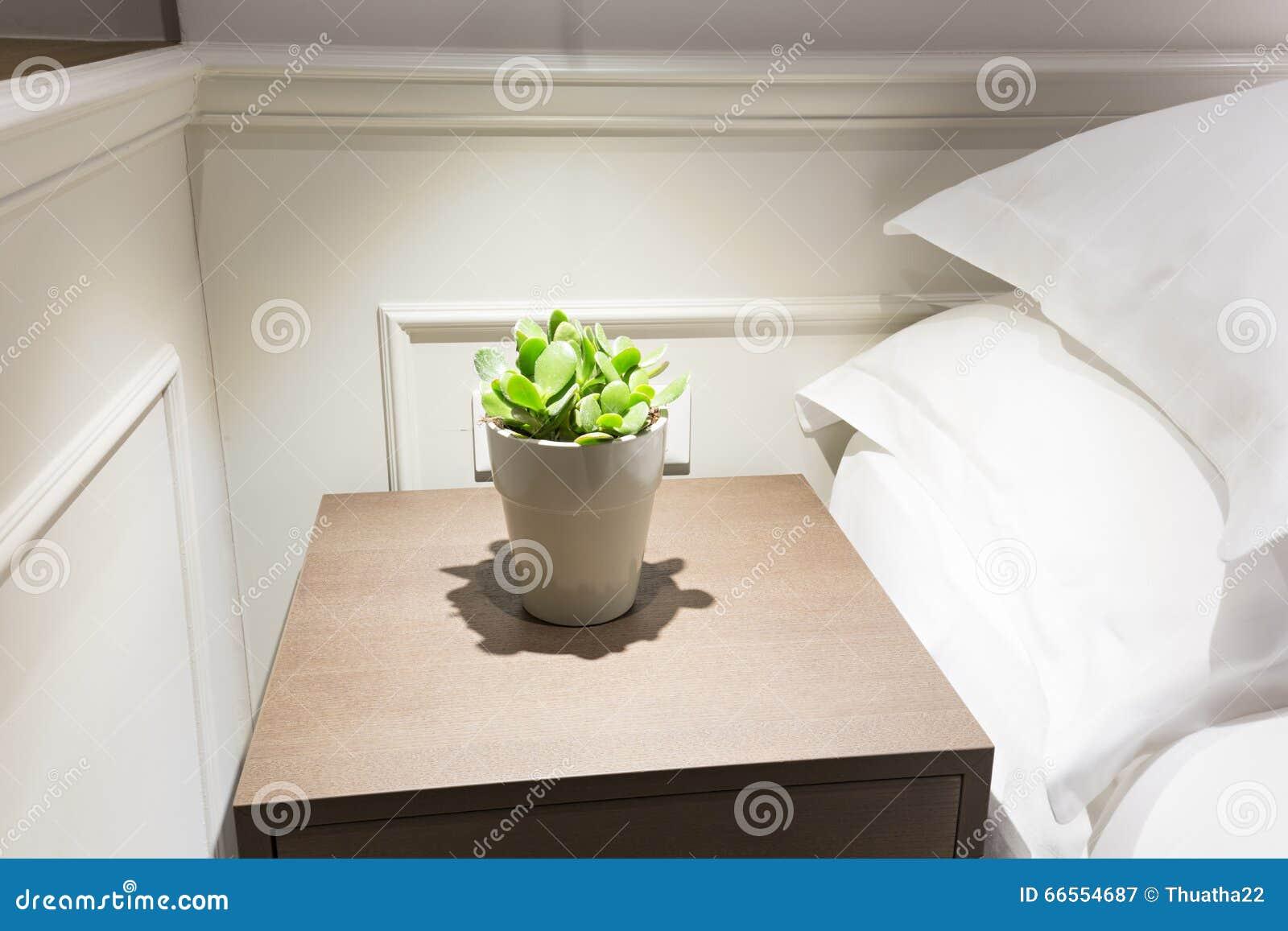 Usine Le Petite De à Une Fleurs Sur De Nuit Dans Table Pot F1JcKlT