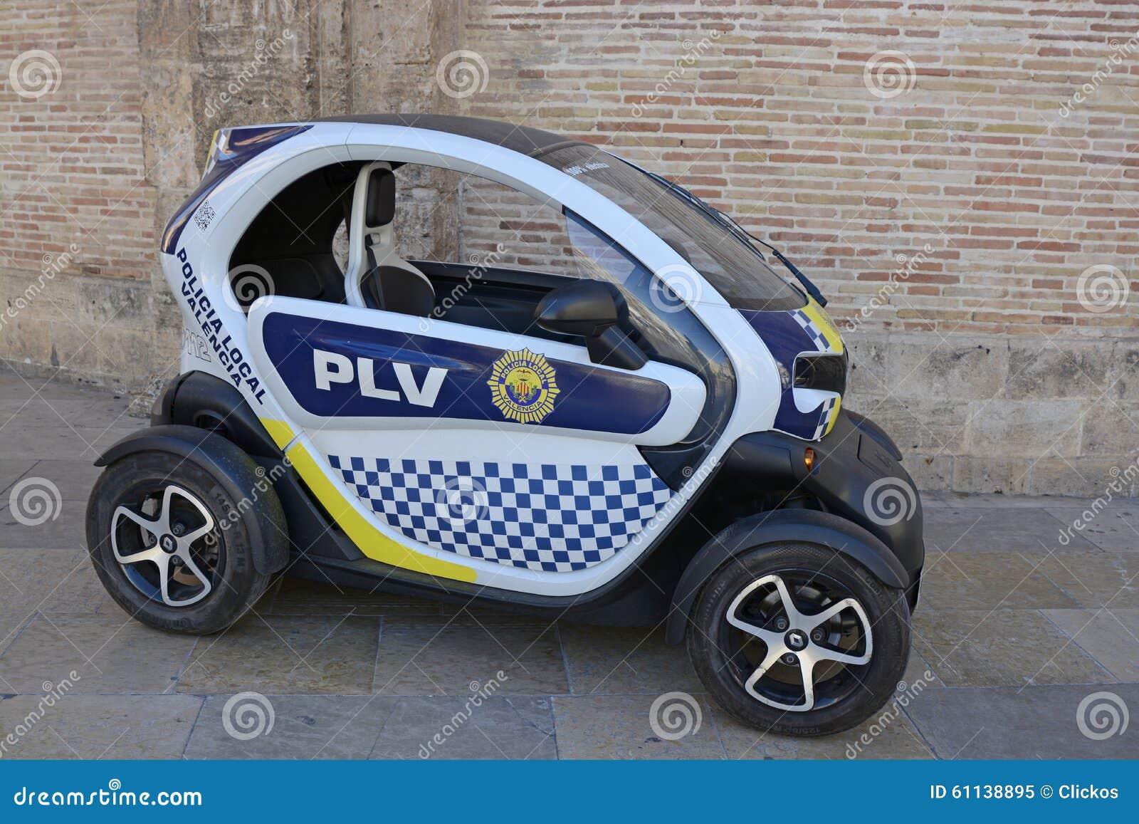 Favori Petite Voiture De Police électrique à Valence, Espagne Image  VK01
