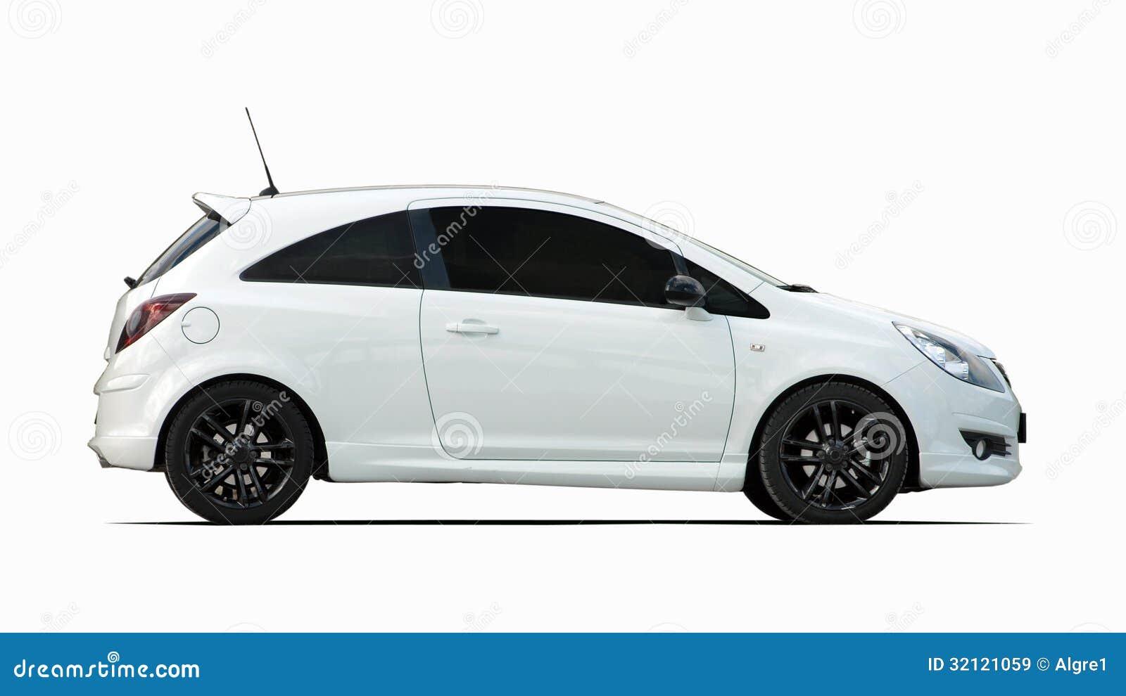 petite voiture de sport blanche image stock image du trappe automobile 32121059. Black Bedroom Furniture Sets. Home Design Ideas