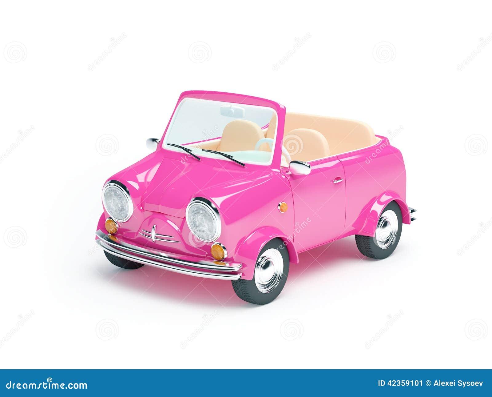 petite voiture rose illustration stock image 42359101. Black Bedroom Furniture Sets. Home Design Ideas