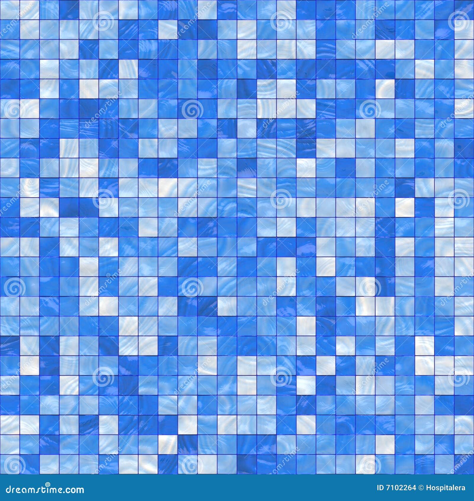 Petites tuiles bleues