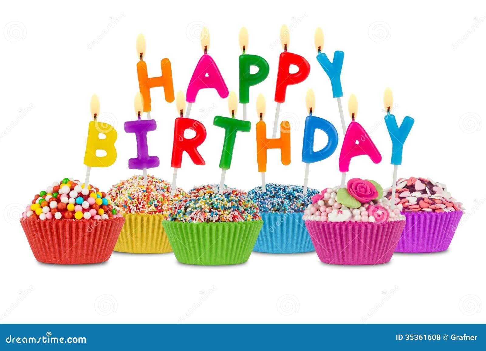 Petits gâteaux de joyeux anniversaire