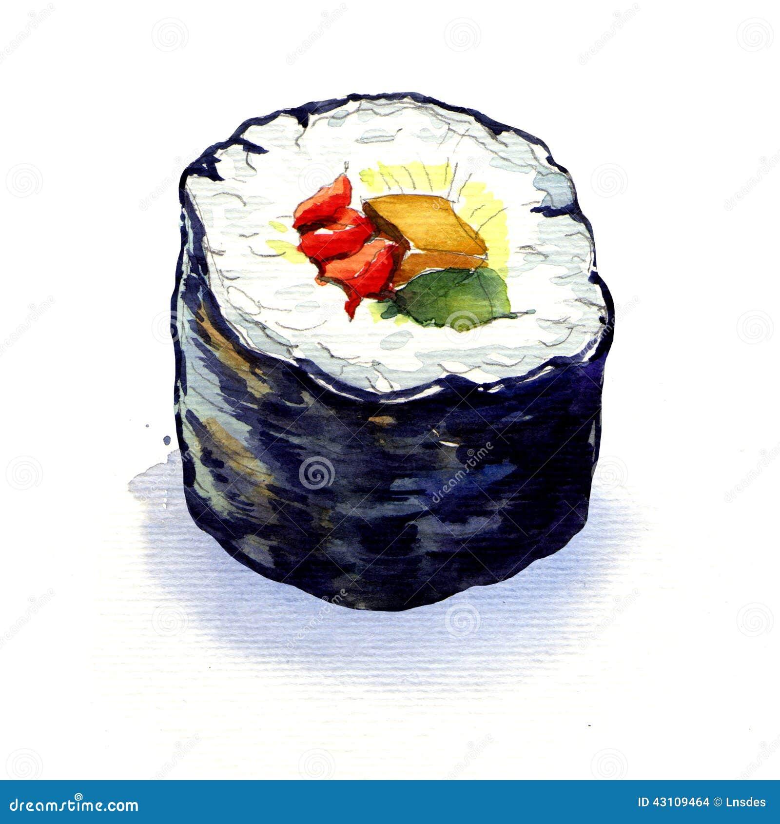 Petits pains de sushi japonais traditionnels d isolement