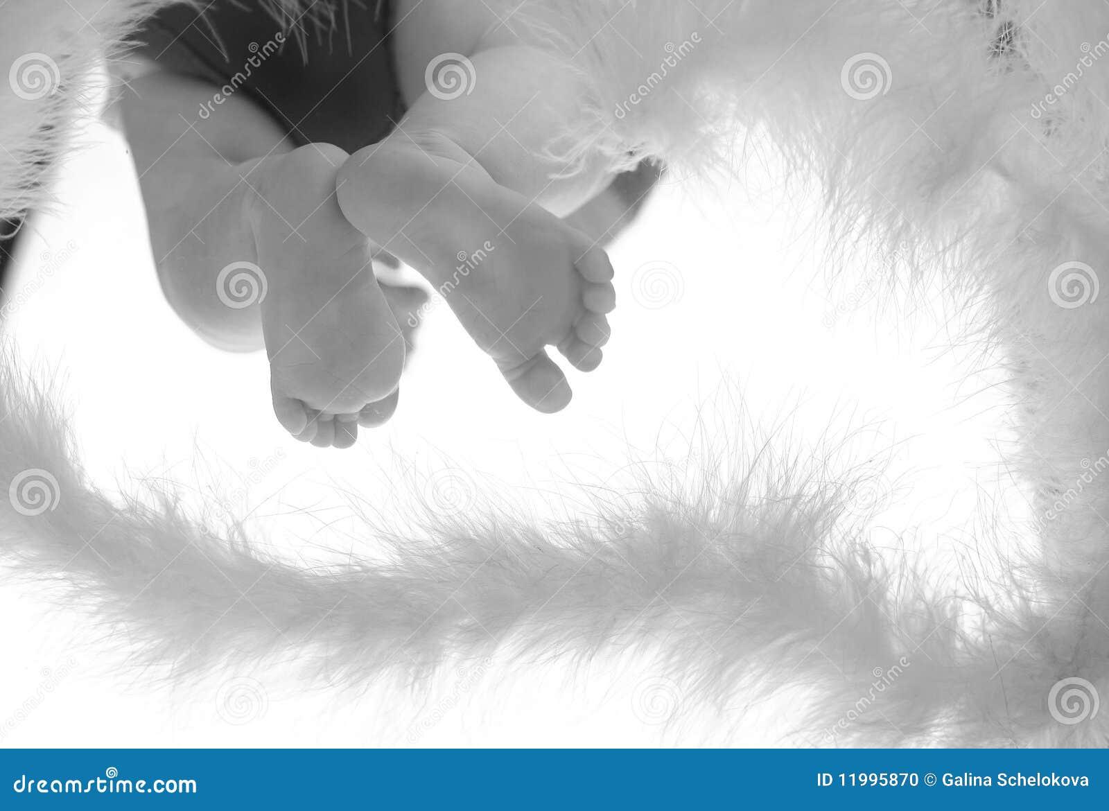 Petits pieds de chéri sur la glace