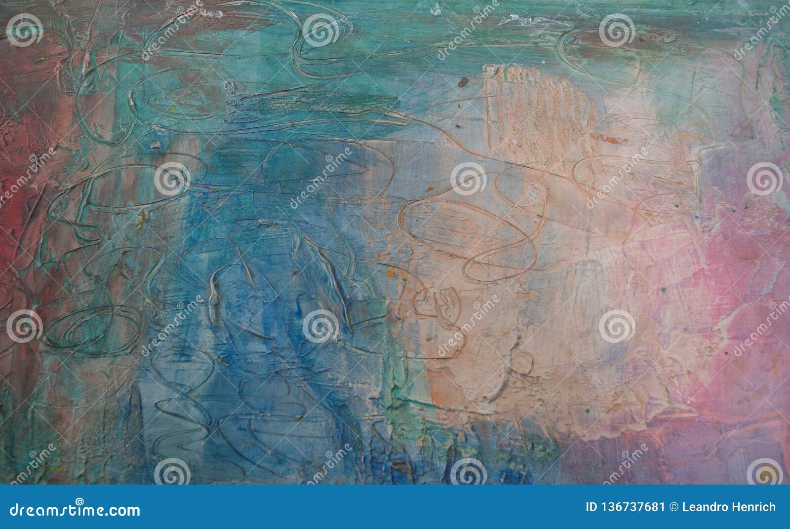 Petróleo abstrato fundo pintado handmade