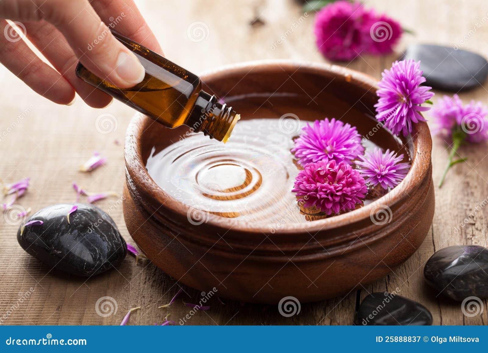 Petróleo esencial para aromatherapy