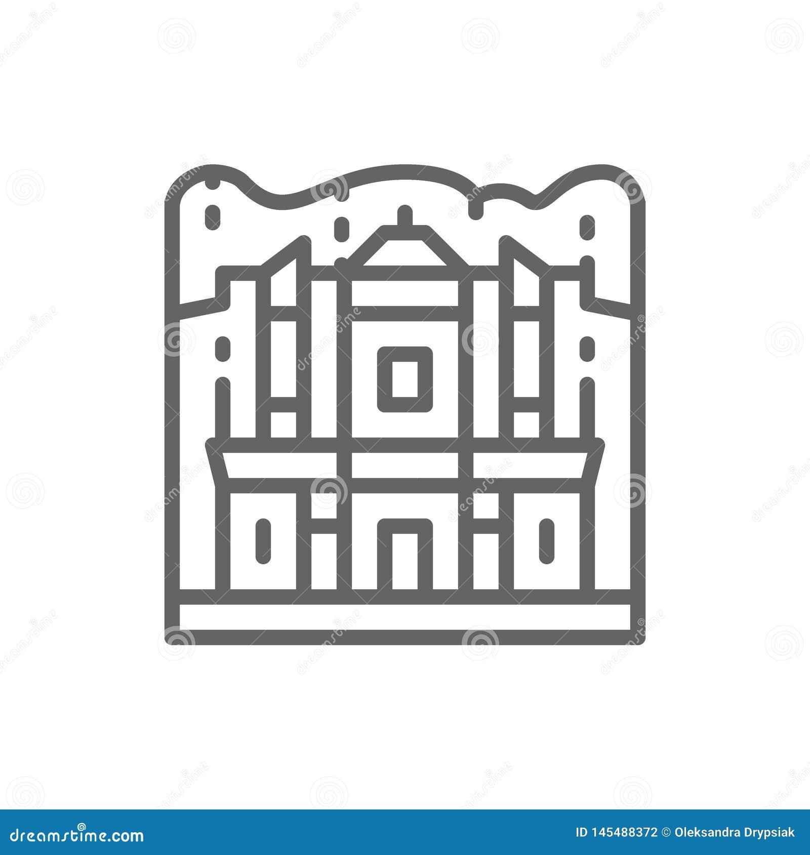 Petra,约旦,地标线象修道院