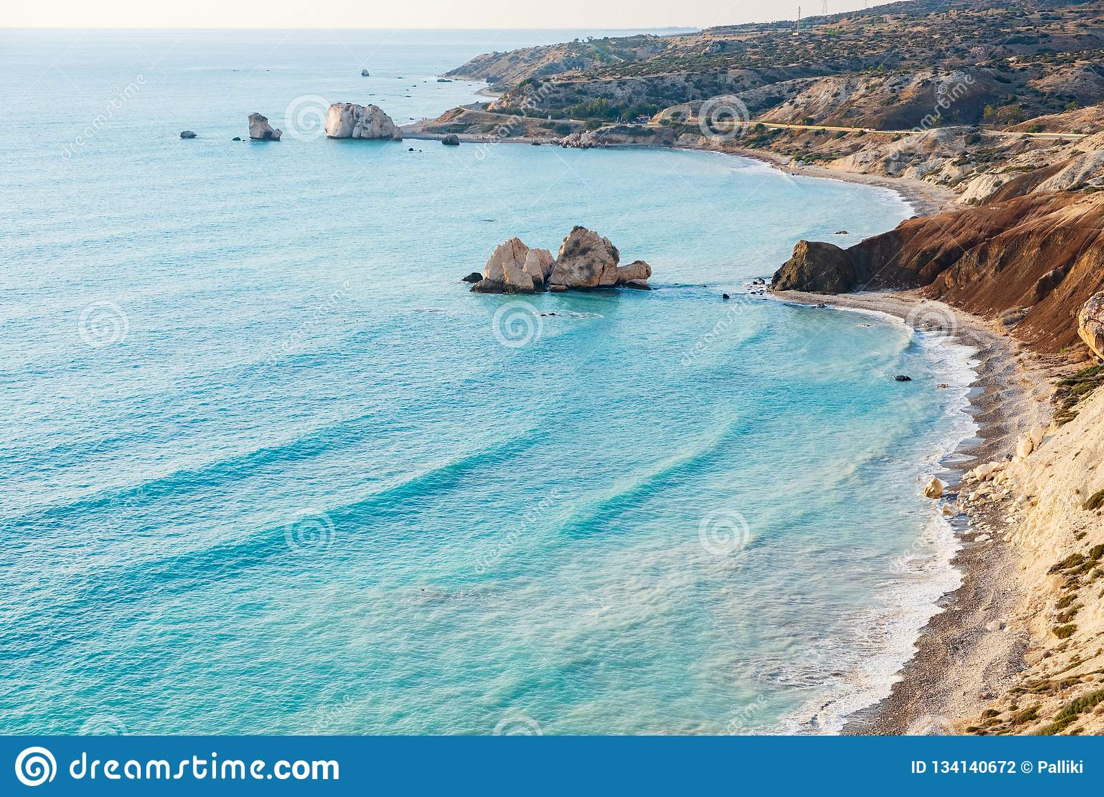 It Was Beautiful Afternoon For >> Petra Tou Romiou Rock On A Beautiful Afternoon In Paphos Cyprus