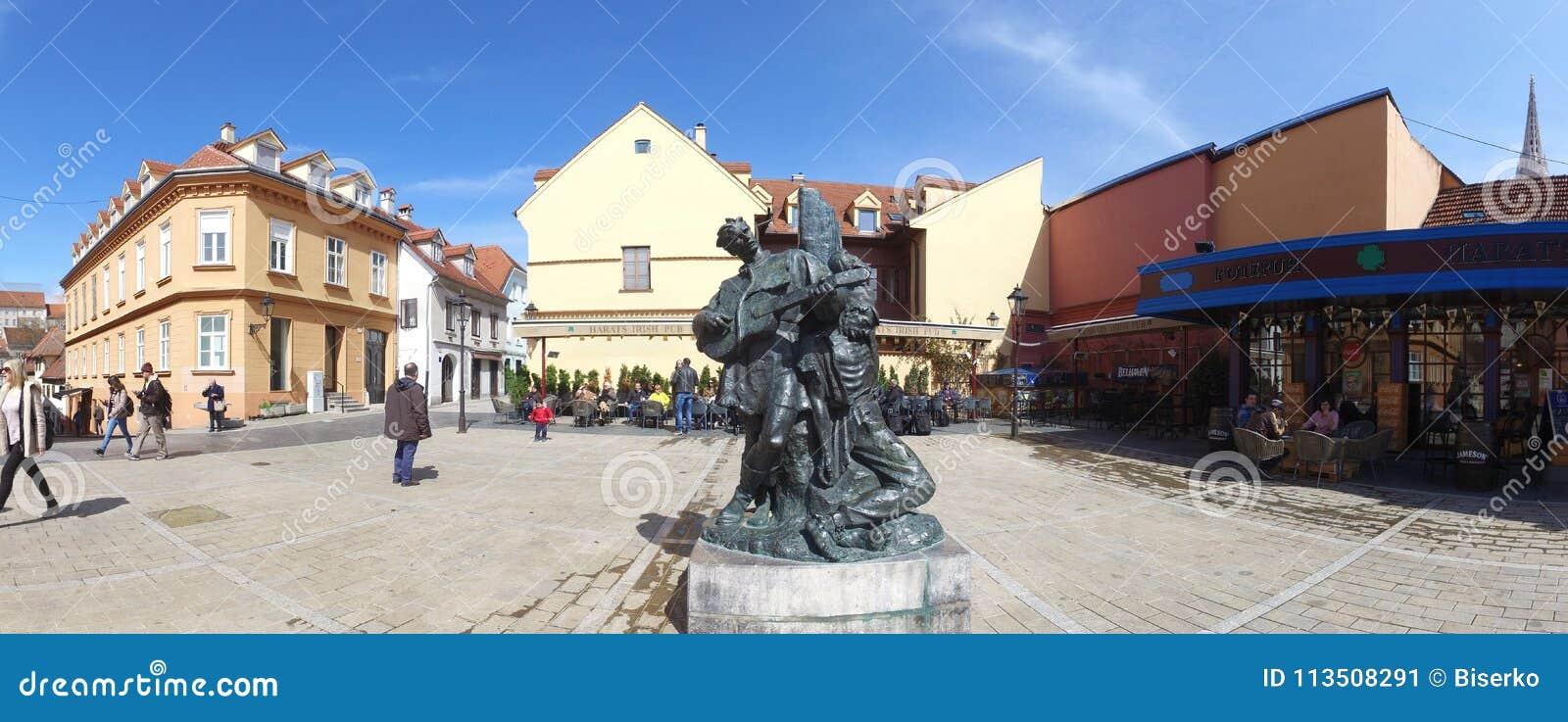 Petrica Kerempuh Monument In Zagreb Croatia Editorial Photo