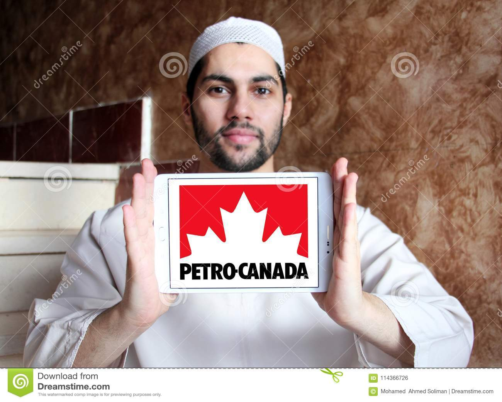 Petro Canada company logo editorial photo  Image of sign