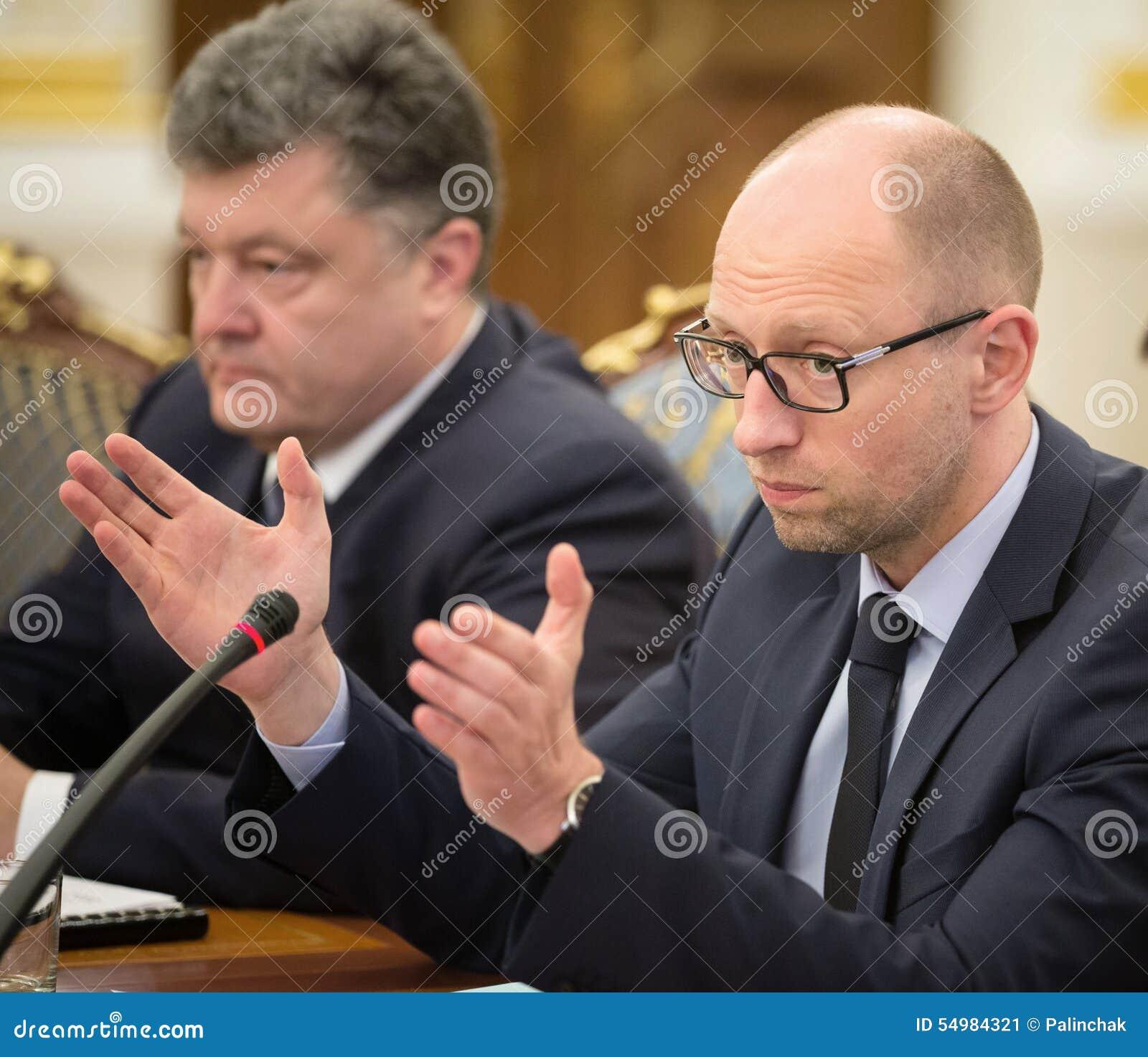 Petro Poroshenko och Arseniy Yatsenyuk