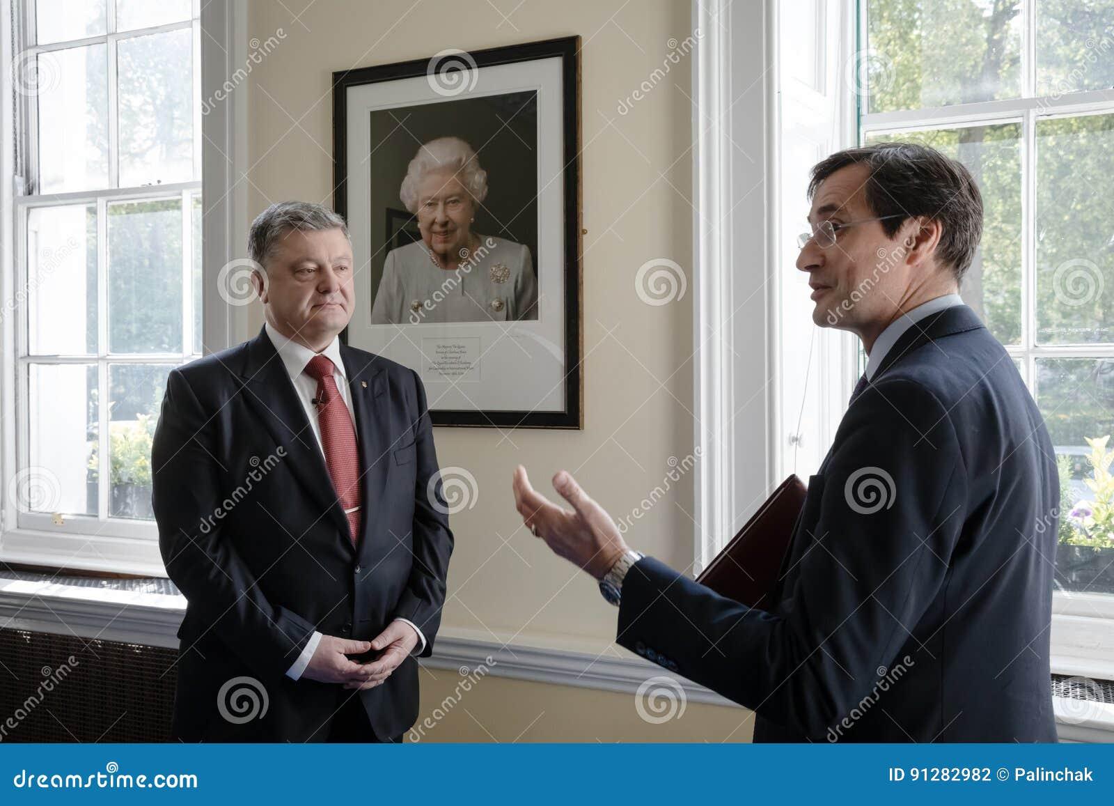 Petro Poroshenko på Royal Institute of International Affairs Cha