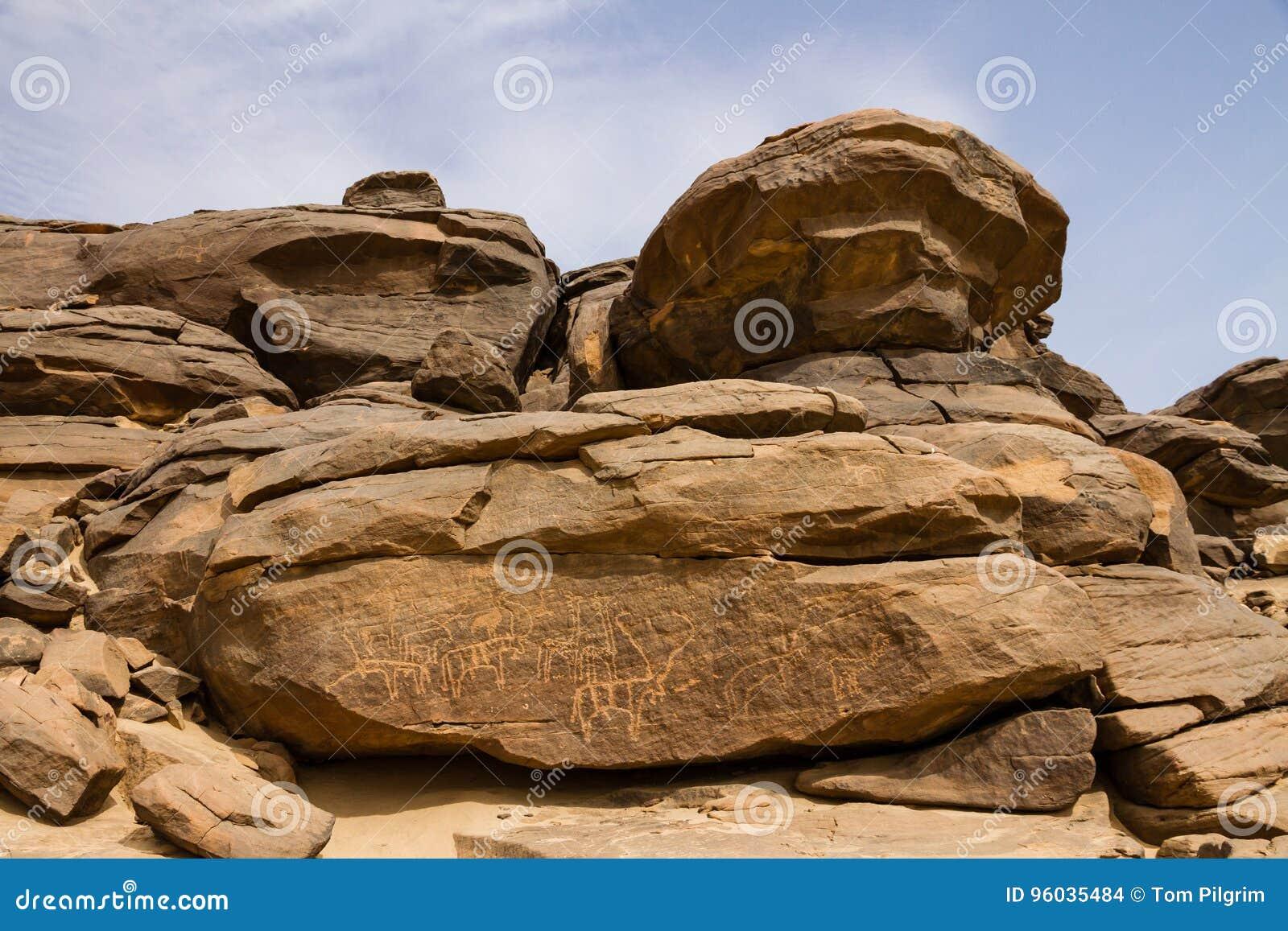 Petroglify przy Sabu Sudan