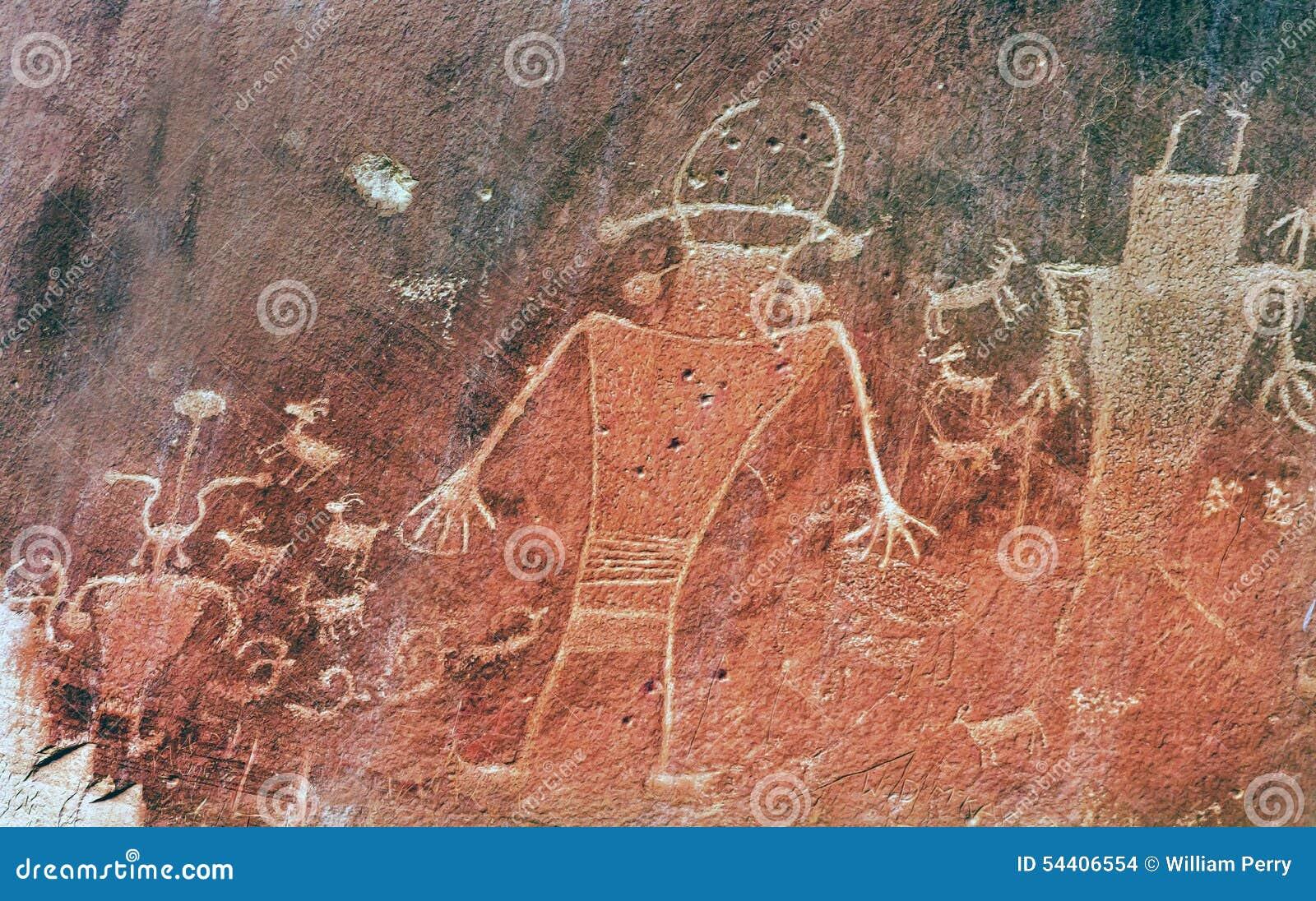 Petroglyphs Fremont αμερικανών ιθαγενών ινδικό κύριο εθνικό πάρκο σκοπέλων