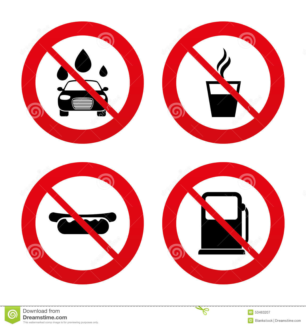 Petrol Or Gas Station Services Icons Car Wash Stock