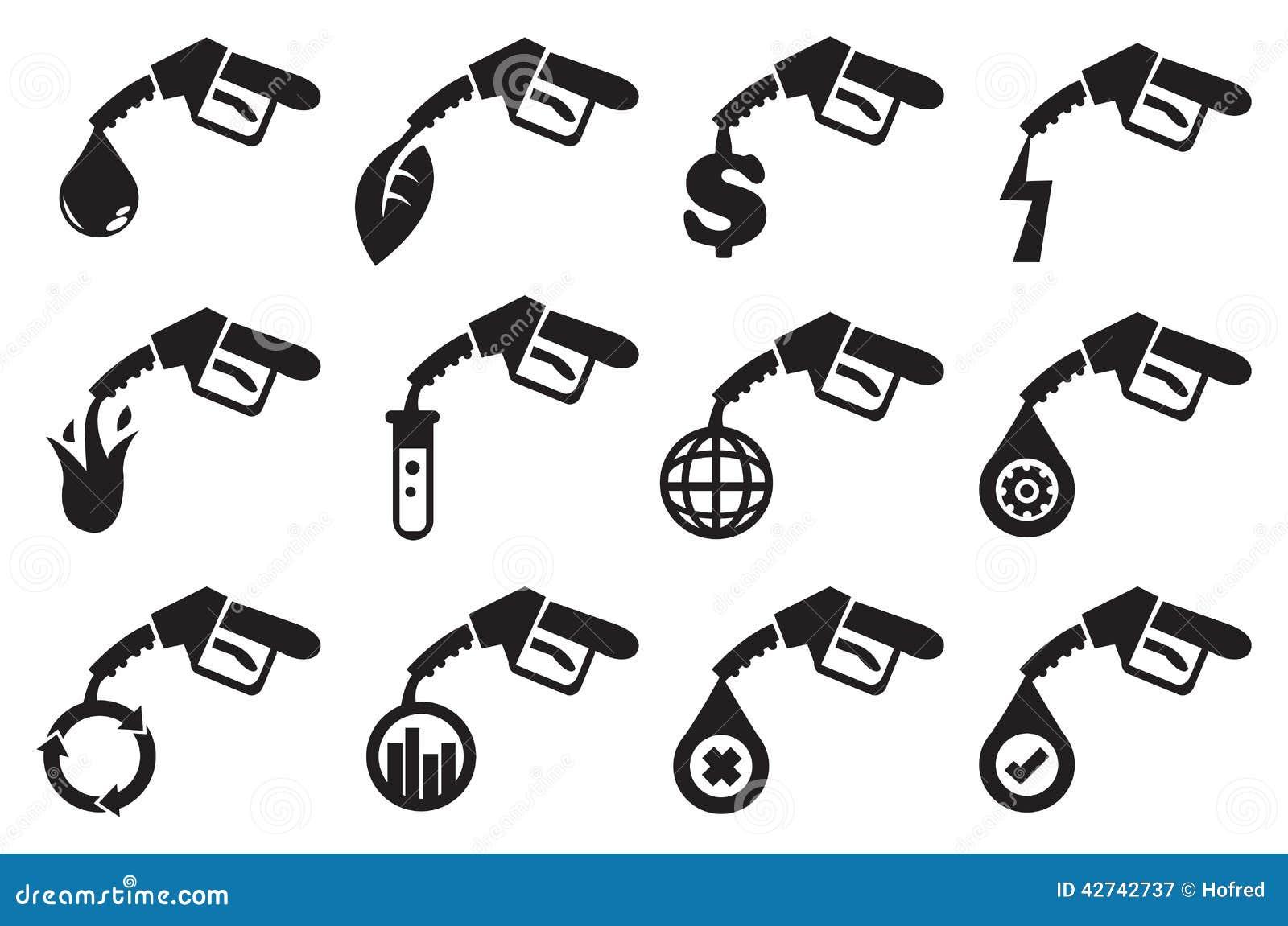 petrol pump vector icons cartoon vector