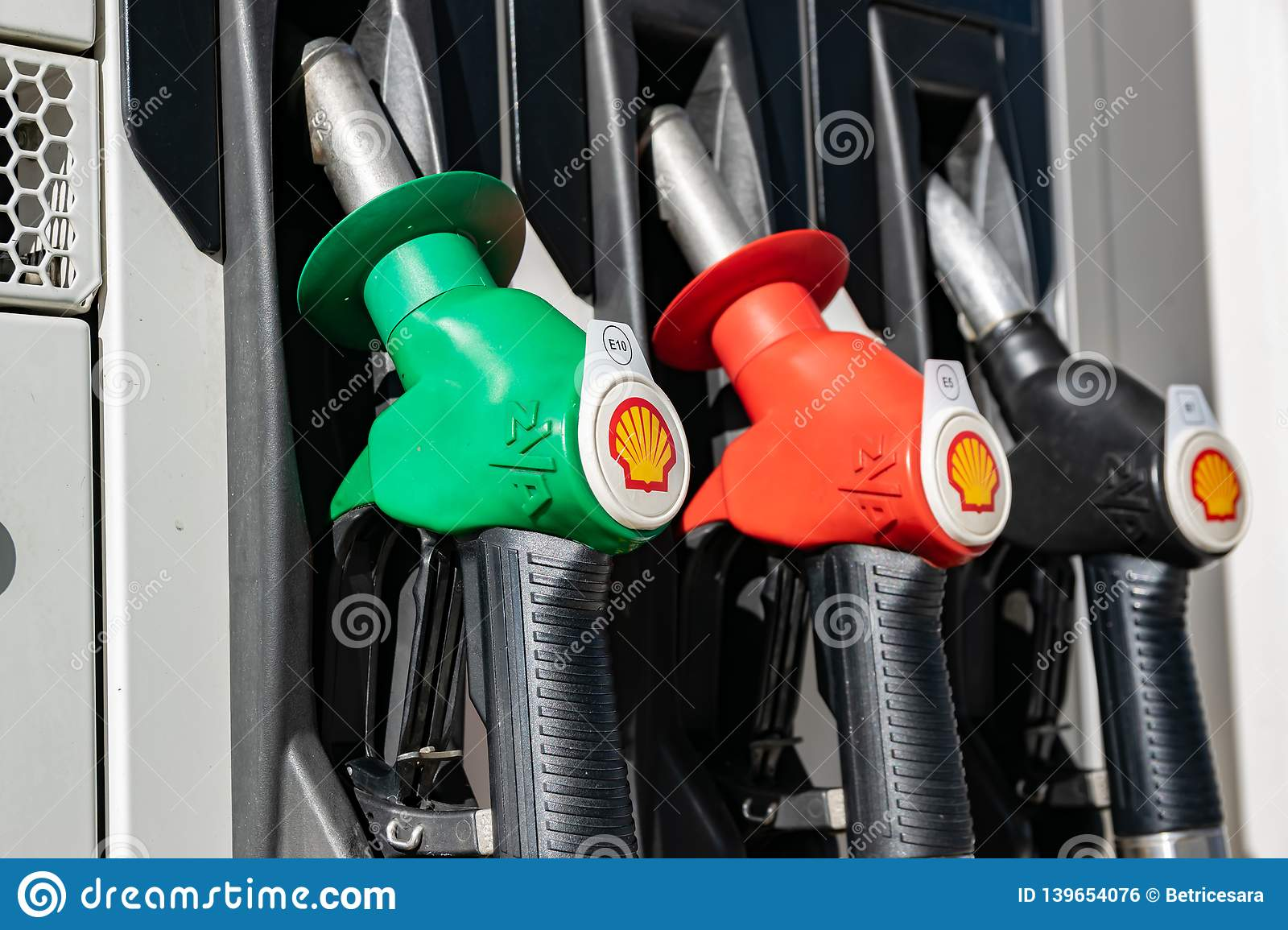 Petrol Station Shell And Distributors For Filling Fuel  Editorial
