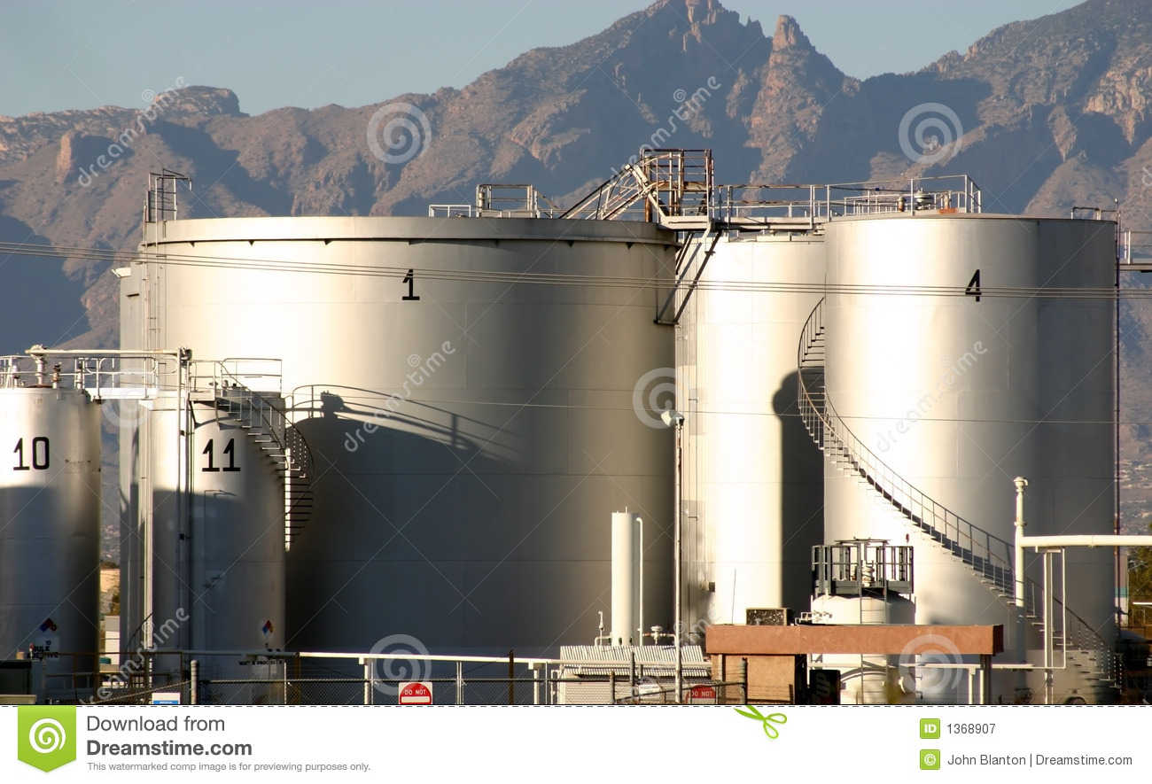 Petroleum Products Depot Stock Image. Image Of Petroleum