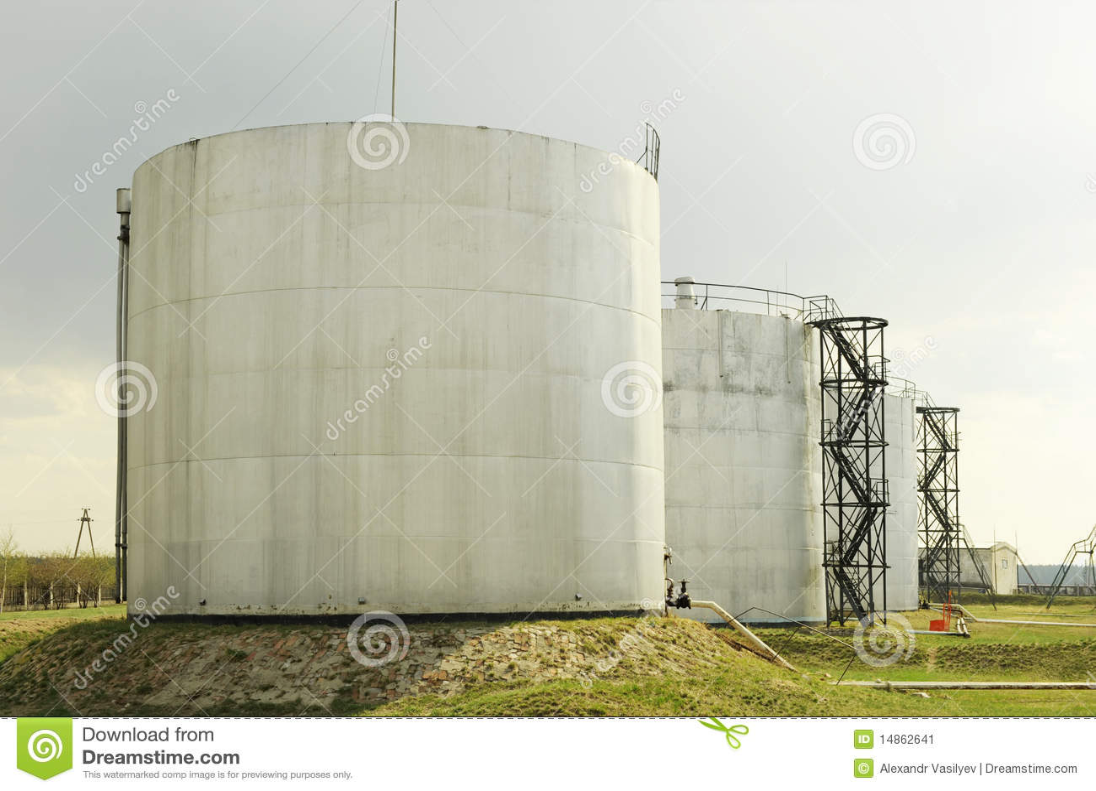 Petroleum storage depot
