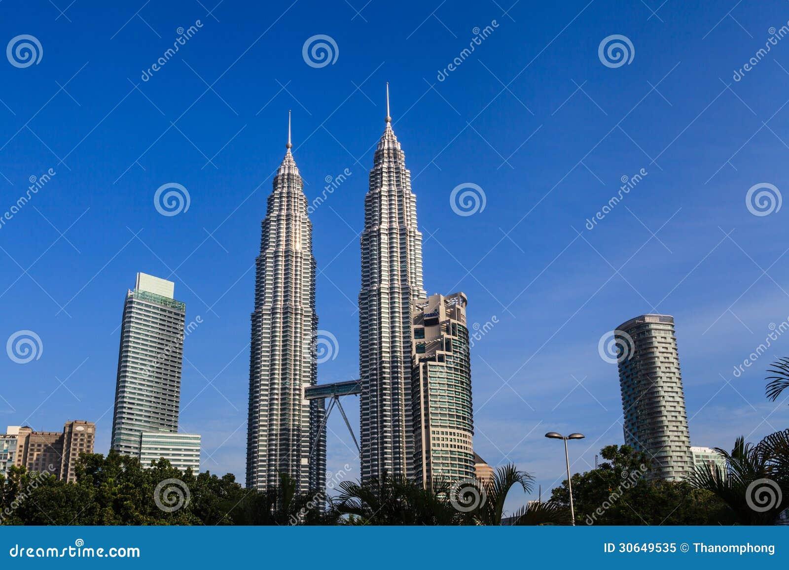 The Petronas Twin Towers Royalty Free Stock Photo - Image