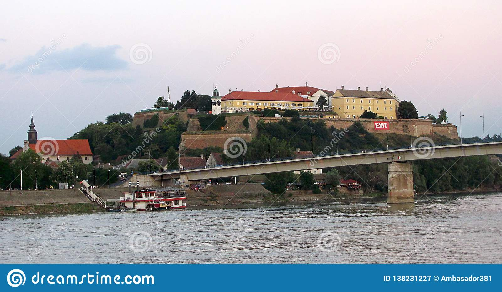 Petrovaradin Fortress Near Novi Sad, Serbia Editorial Photography