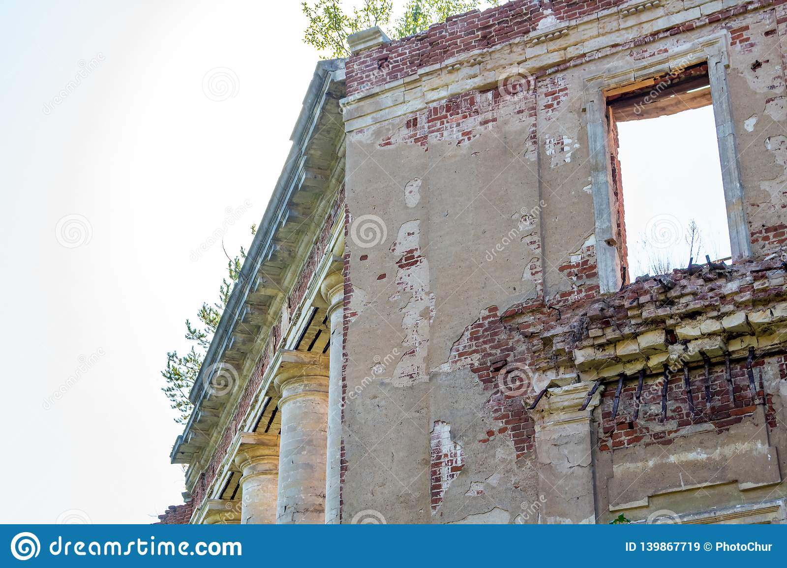 Petrovskoe-Alabino Estate - the ruins of an abandoned farmstead at the end of the 18th century
