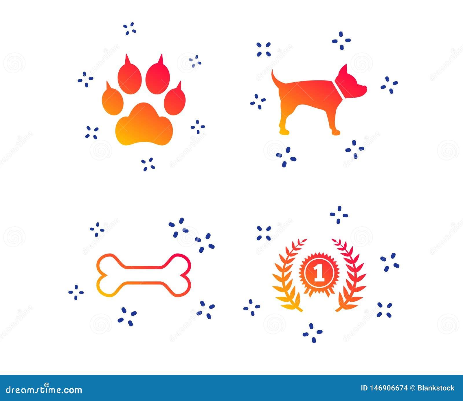 Pets ?cones Pata do gato com sinal das embreagens Vetor