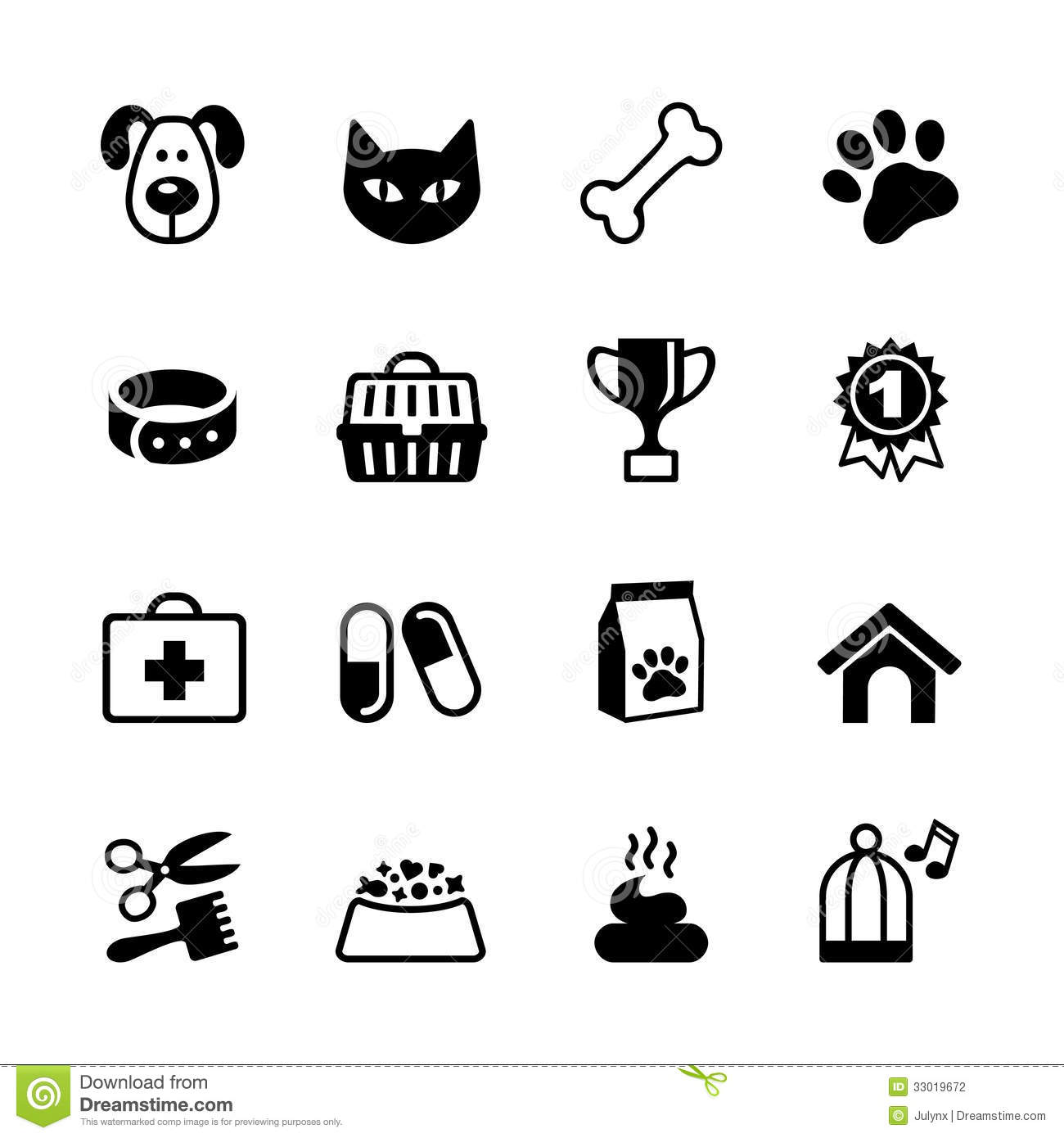pets icons set stock photography   image 33019672