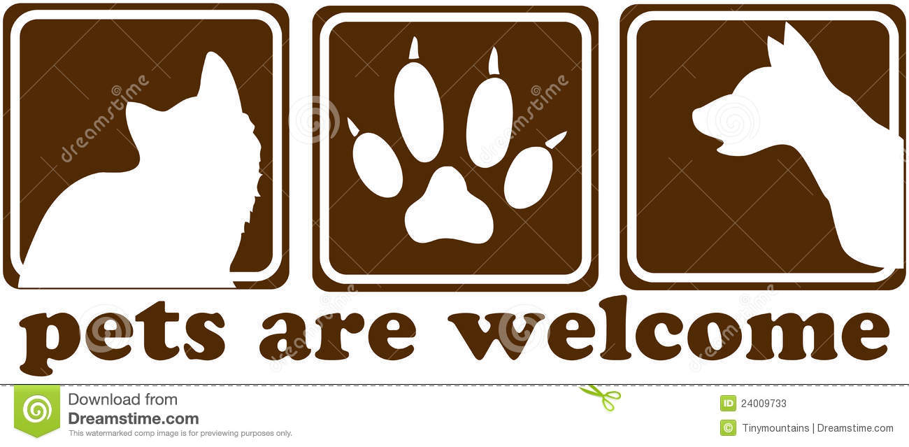 Pets Are Welcome Sign Stock Photos Image 24009733