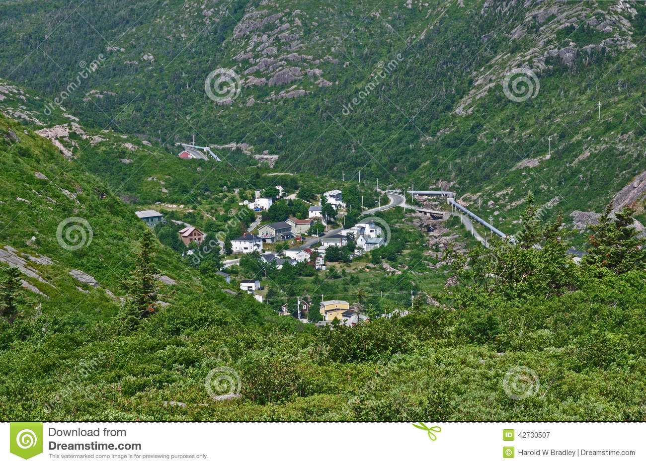 Petty Harbour In Newfoundland Stock Photo Image 42730507
