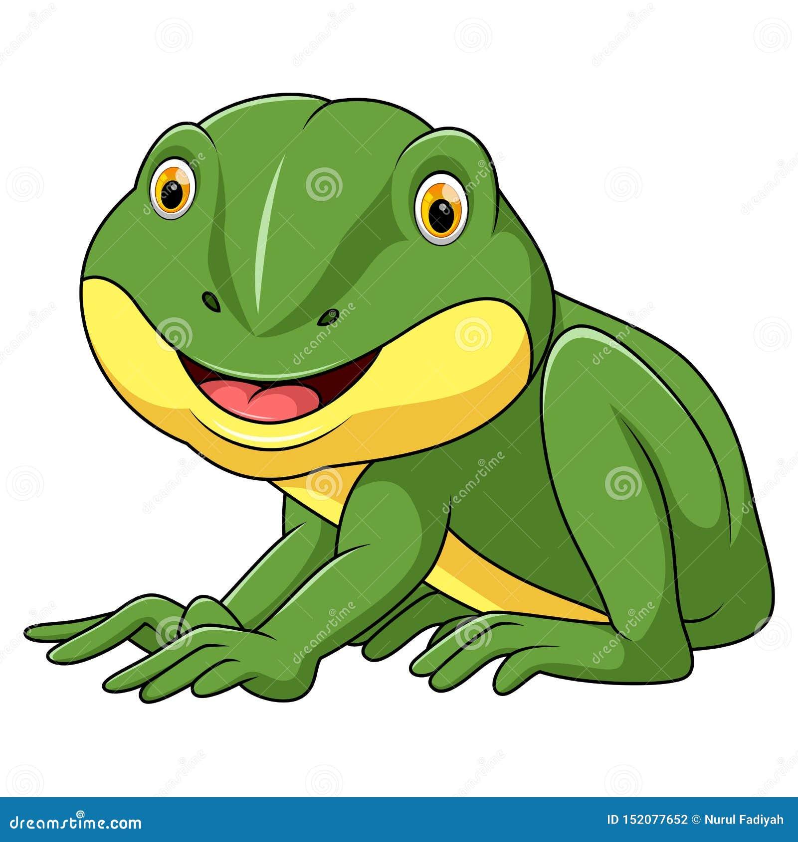 Peu bande dessinée de grenouille