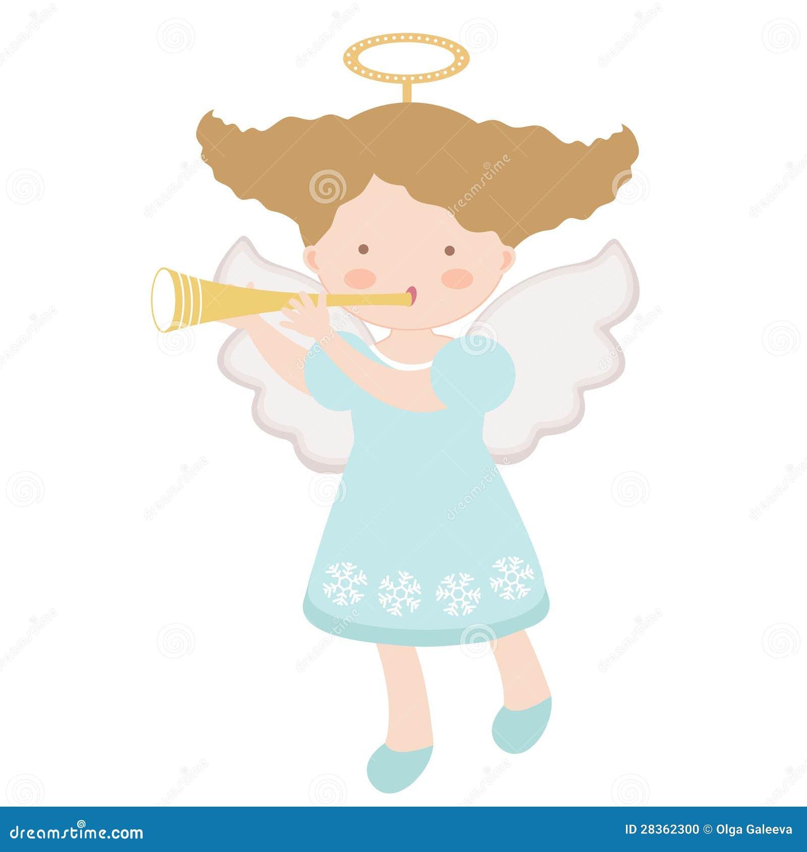 Peu d ange jouant la trompette