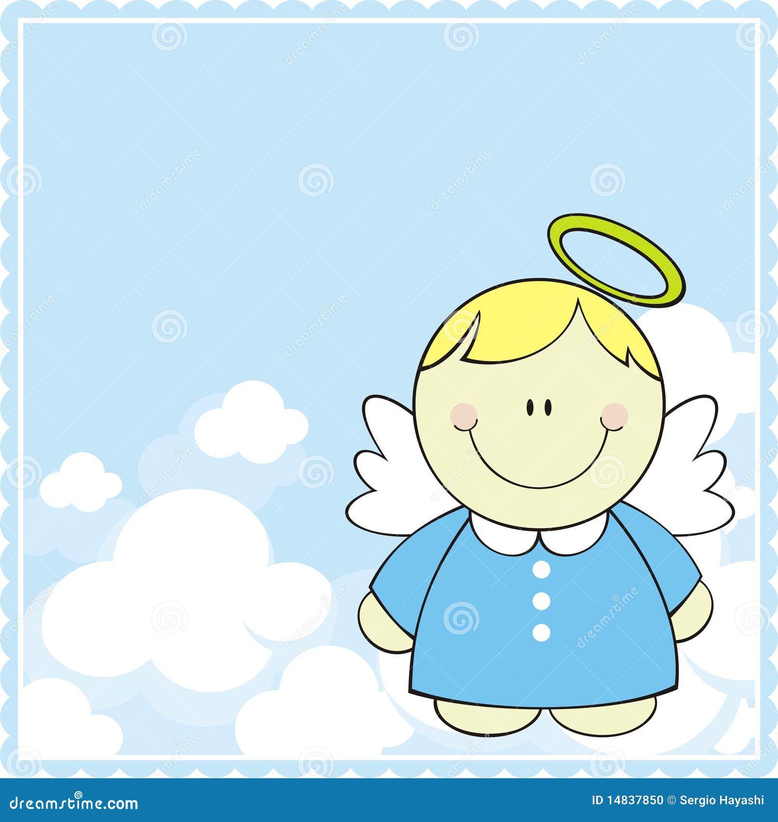 Exceptionnel Peu d'ange pour le baptême illustration stock. Image du noël  EX31