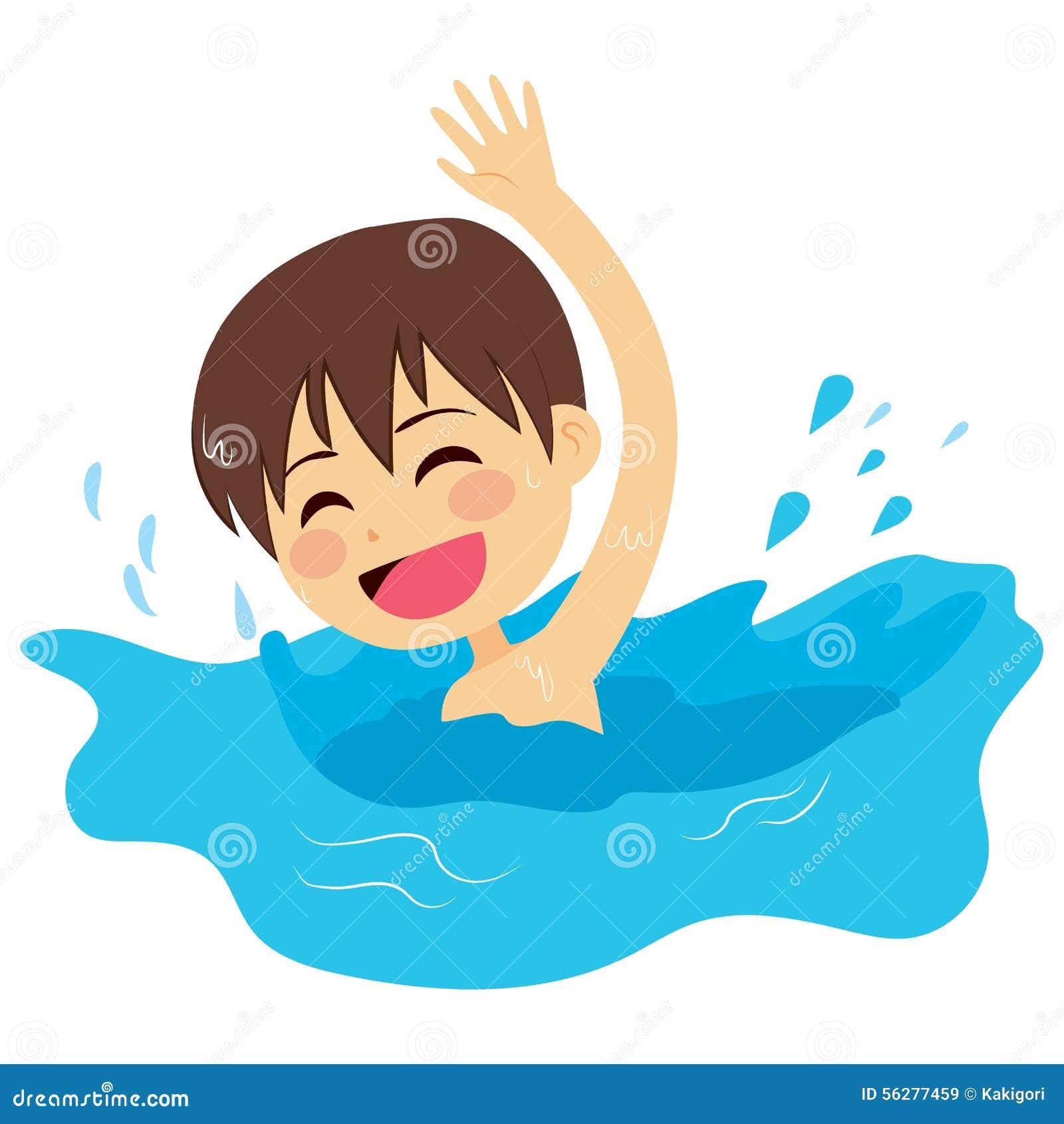 Peu de natation d 39 enfant illustration de vecteur - Natation dessin ...