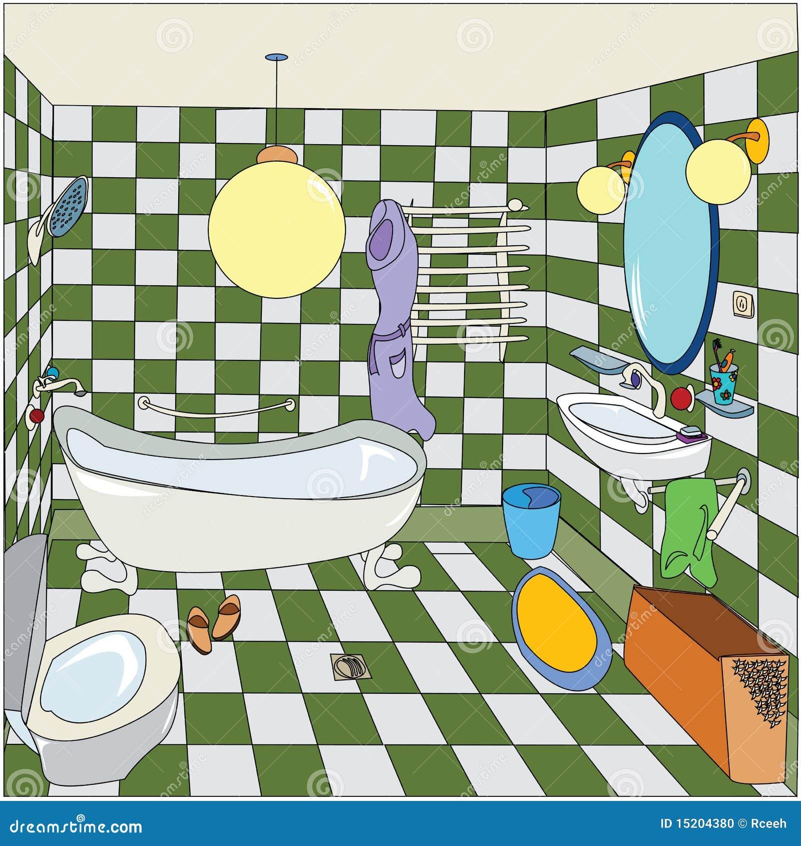 Peu de salle de bains illustration stock image du for Logiciel dessin salle de bain