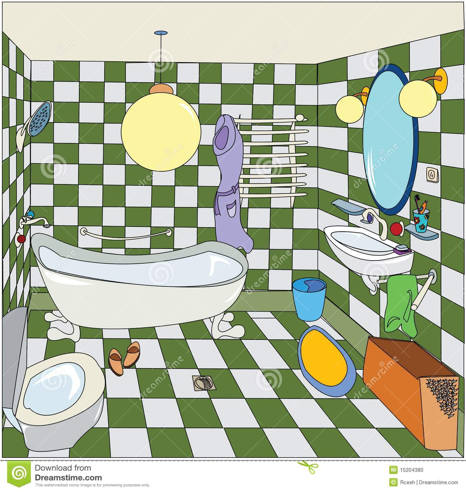 peu de salle de bains photo stock image 15204380. Black Bedroom Furniture Sets. Home Design Ideas