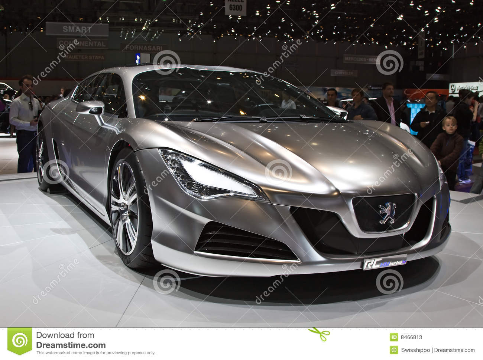 peugeot hybrid hr4 concept car editorial stock photo image 8466813. Black Bedroom Furniture Sets. Home Design Ideas